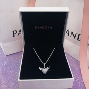💝Pandora Angel Wings Love Necklace 17.7 inch